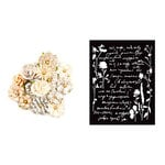 Prima - Pretty Pale Collection - Flower Embellishments - Caravans