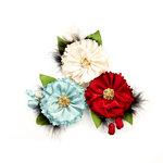 Prima - Midnight Garden Collection - Flower Embellishments - Midnight Elegance