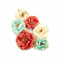 Prima - Midnight Garden Collection - Flower Embellishments - Pretty In Rouge