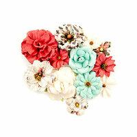 Prima - Midnight Garden Collection - Flower Embellishments - Elemental Beauty