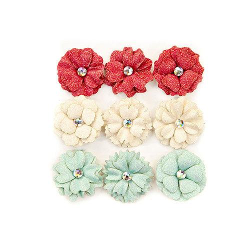 Prima - Midnight Garden Collection - Flower Embellishments - 11th Hour