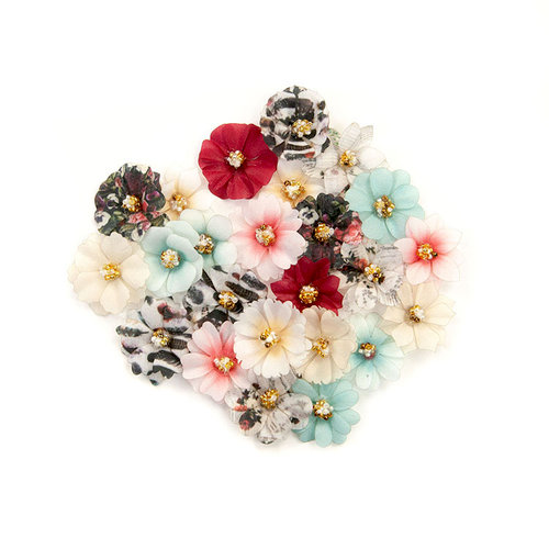 Prima - Midnight Garden Collection - Flower Embellishments - This Place