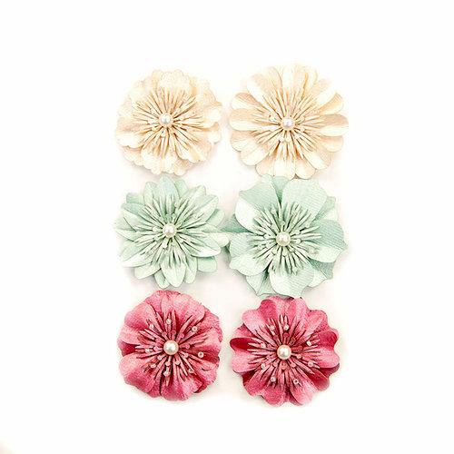 Prima - Midnight Garden Collection - Flower Embellishments - Wonderful Midnight