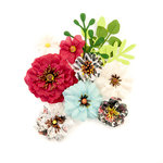 Prima - Midnight Garden Collection - Flower Embellishments - Sunset
