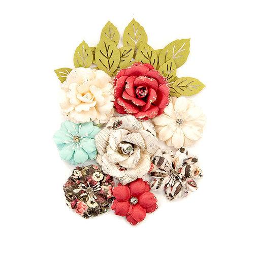 Prima - Midnight Garden Collection - Flower Embellishments - Garden Blooms