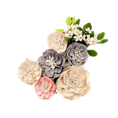 Prima - Spring Farmhouse Collection - Flower Embellishments - Simple Things