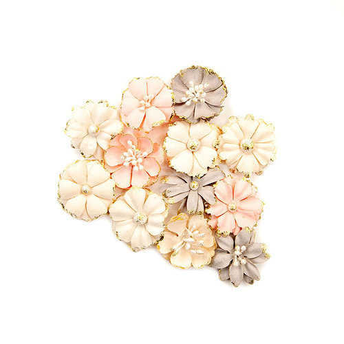 Prima - Spring Farmhouse Collection - Flower Embellishments - Blessed