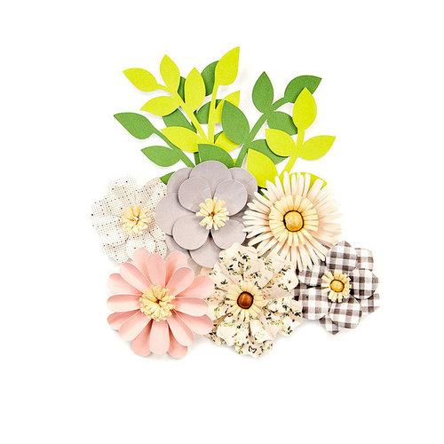 Prima - Spring Farmhouse Collection - Flower Embellishments - Gather