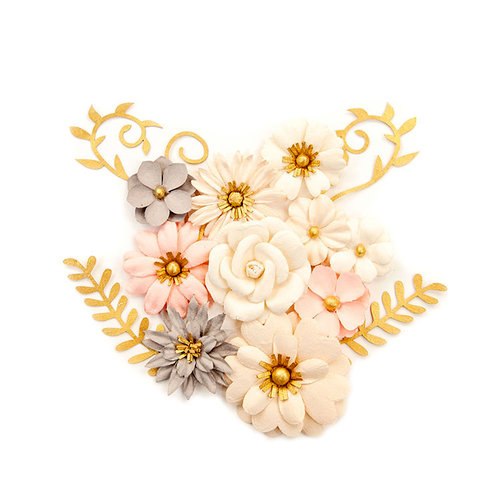 Prima - Spring Farmhouse Collection - Flower Embellishments - Beautiful Country