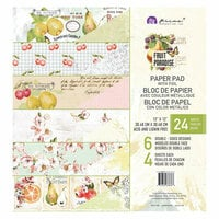 Prima - Fruit Paradise Collection - 12 x 12 Paper Pad with Foil Accents