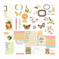 Prima - Fruit Paradise Collection - Ephemera with Foil Accents