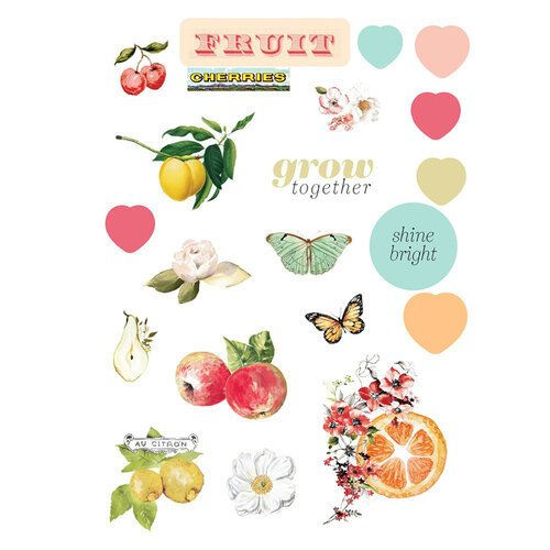 Prima - Fruit Paradise Collection - Puffy Stickers
