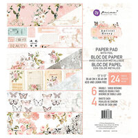 Prima - Apricot Honey Collection - 12 x 12 Paper Pad with Foil Accents
