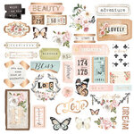Prima - Apricot Honey Collection - Ephemera with Foil Accents