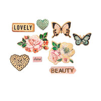 Prima - Apricot Honey Collection - Embellishments - Wood Shapes