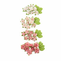 Prima - Fruit Paradise Collection - Flower Embellishments - Raspberry Kisses