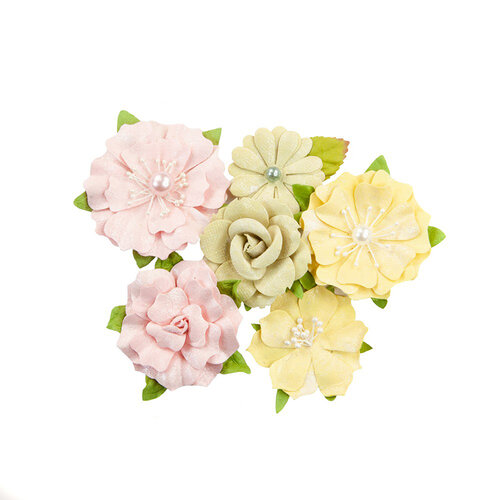 Prima - Fruit Paradise Collection - Flower Embellishments - Citrus Twist