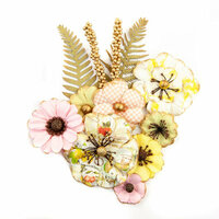 Prima - Fruit Paradise Collection - Flower Embellishments - Lemon Lime
