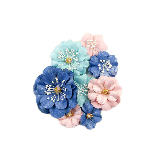 Prima - Golden Coast Collection - Flower Embellishments - Manhattan