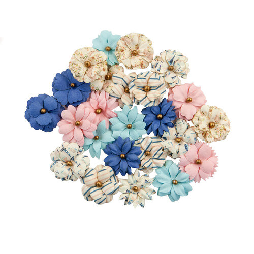 Prima - Golden Coast Collection - Flower Embellishments - Moon Bay