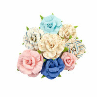 Prima - Golden Coast Collection - Flower Embellishments - Waterfront Bay