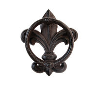 Re-Design - Cast Iron Knocker - Fleur De Lis Vintage Knocker