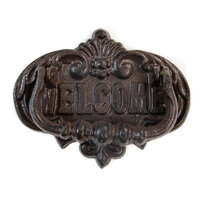 Re-Design - Cast Iron Knocker - Welcome To Our Home Vintage Knocker