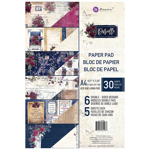Prima - Darcelle Collection - A4 Paper Pad