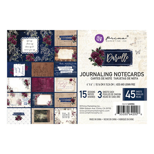 Prima - Darcelle Collection - 4 x 6 Journaling Cards
