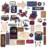 Prima - Darcelle Collection - Ephemera with Foil Accents