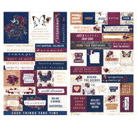 Prima - Darcelle Collection - Quote and Word Stickers with Foil Accents
