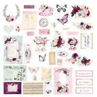 Prima - Pretty Mosaic Collection - Ephemera with Foil Accents