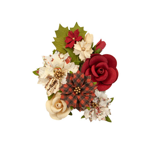 Prima - Christmas in the Country Collection - Flower Embellishments - Christmas Song
