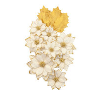 Prima - Christmas in the Country Collection - Flower Embellishments - White Christmas