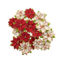Prima - Christmas in the Country Collection - Flower Embellishments - Kris Kringle