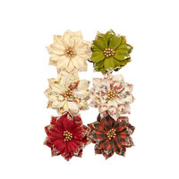 Prima - Christmas in the Country Collection - Flower Embellishments - Warm Mittens