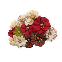 Prima - Christmas in the Country Collection - Flower Embellishments - St. Nick