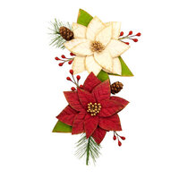 Prima - Christmas in the Country Collection - Flower Embellishments - Sleigh Ride