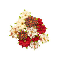Prima - Christmas in the Country Collection - Flower Embellishments - Sugarplum
