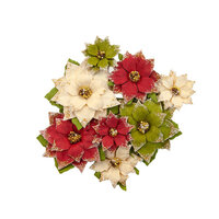 Prima - Christmas in the Country Collection - Flower Embellishments - Tidings
