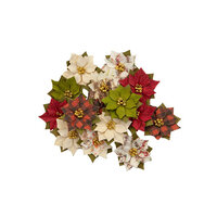Prima - Christmas in the Country Collection - Flower Embellishments - Winter Wonderland