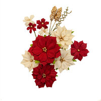Prima - Christmas in the Country Collection - Flower Embellishments - Joyful