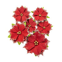 Prima - Christmas in the Country Collection - Flower Embellishments - Christmas Cheer