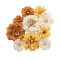 Prima - Autumn Sunset Collection - Flower Embellishments - Harvest