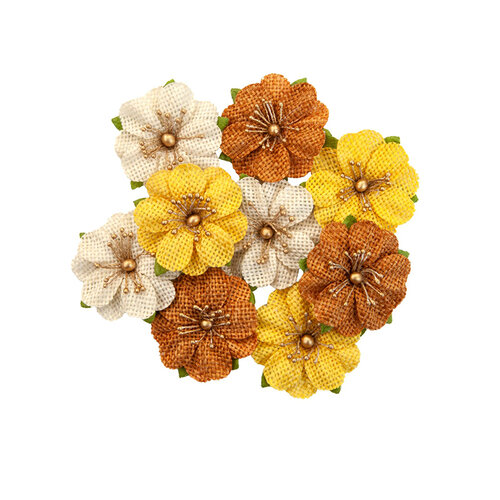 Prima - Autumn Sunset Collection - Flower Embellishments - Haystack