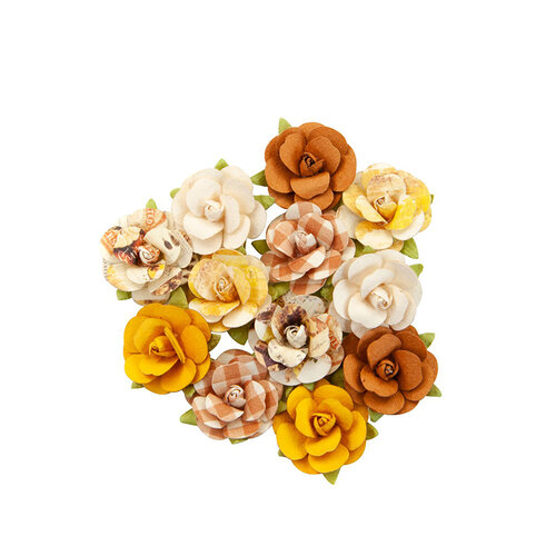 Prima - Autumn Sunset Collection - Flower Embellishments - Harvest Moon