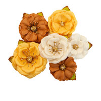 Prima - Autumn Sunset Collection - Flower Embellishments - Autumn Sunset