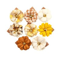 Prima - Autumn Sunset Collection - Flower Embellishments - Fall Meadows