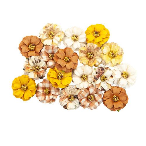 Prima - Autumn Sunset Collection - Flower Embellishments - Pumpkin Spice