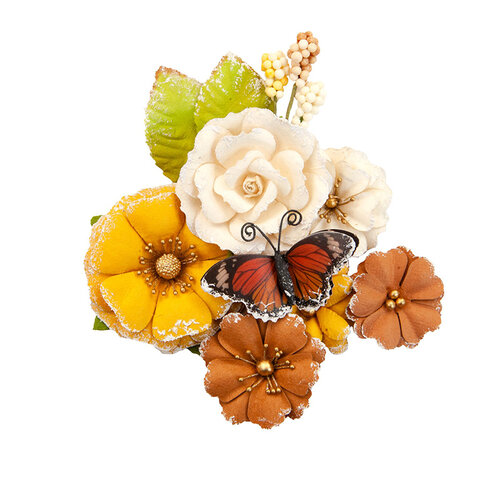 Prima - Autumn Sunset Collection - Flower Embellishments - Gourds and Pumpkins